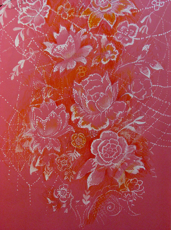 Liz Downing drawing, Lace