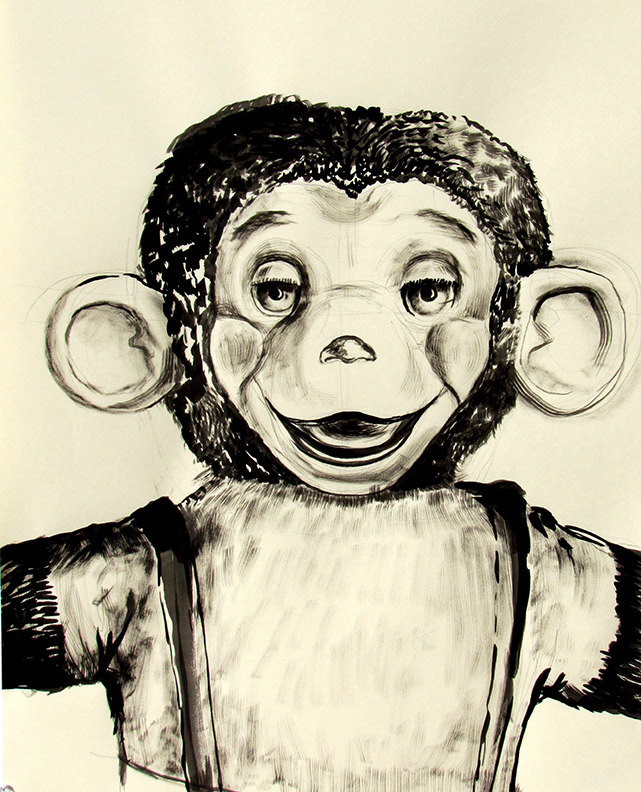 Monkey with Rubber Ears