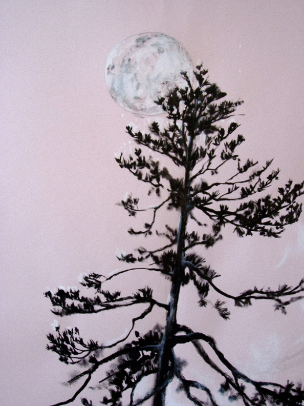 Liz Downing drawing, Weight Of A Lacy Moon